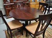 Espresso Dining Set with 4 Chairs