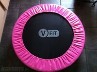 PINK V-fit mini Trampoline Jogger and V-fit mini stepper GYM SET