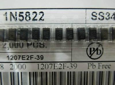 100pcs Ss34 1n5822 3a40v Sma Do-214ac Smd Schottky Diodes