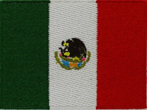 MEXICO FLAG embroidered iron-on MEXICAN PATCH