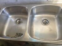 double stainless sinks,