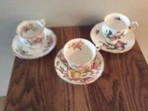 CAROL'S BONE CUPS AND SAUCER SETS