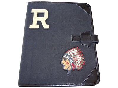 Ralph Lauren Rugby Canvas Portfolio Polo Varsity Indian Chief Black Nwt