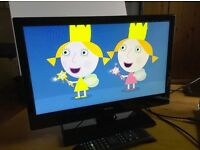 """Bush 19"""" LED television, HD ready, freeview, comes with amplified aerial"""