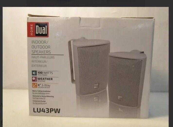 Dual 3-way 50 W Indoor/Outdoor Speaker Pack of 2 White LU43PW