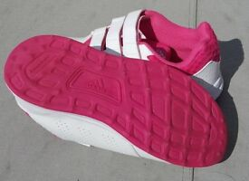 Girls Adidas Sport 2.0 pink and white trainers UK 2