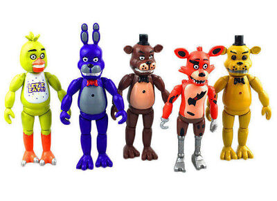 5Pcs Fnaf Five Nights At Freddys 4  Action Figures With Light Toy Gift For Kids