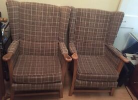 2 Wingback chairs