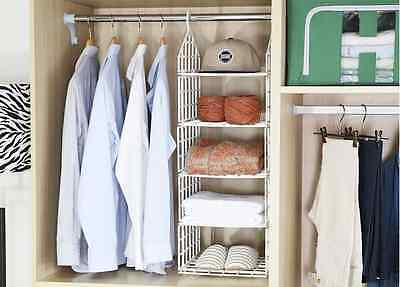 Closet Organizer Portable Rack Storage Hanger Clothes Wardrobe 5 Shelf [KOREA]
