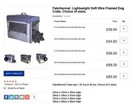 Croft Frabikennel Lightweight Soft Wire Framed Dog Crate 24ins X 18ins