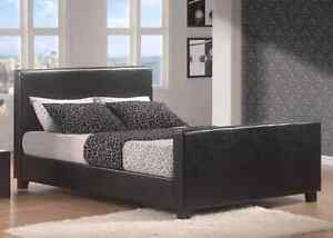Queen Fake leather bedframe from jysk
