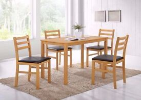 NEW WOODEN DINING TABLE WITH 4 CHAIRS