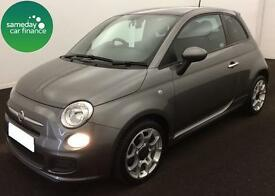 £157.14 PER MONTH GREY 2014 FIAT 500 1.2 DUALOGIC S 3 DOOR PETROL AUTOMATIC