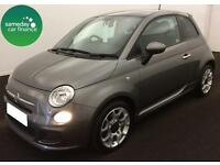 £157.14 PER MONTH GREY 2014 FIAT 500 1.2 DUALOGIC S 3 DOOR PETROL AUTOMATIC