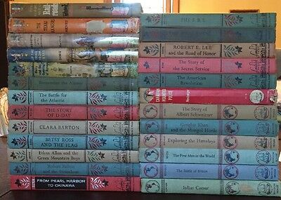 Lot  25 Vintage Landmark Books Hb Dj American   World