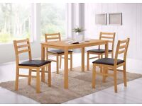 BRAND NEW:: ARIZONA DINNING TABLE WITH 4 CHAIRS JUST £149 SPECIAL OFFER FOR ESTATE AGENTS