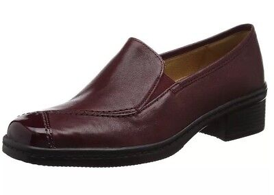 Gabor Shoes Women's Comfort Basic Derby, Red (28 Dark-Red) 6 UK 39 EU