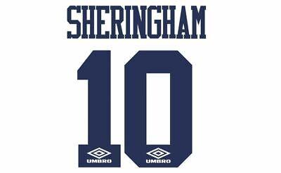 fd68759d943 Sheringham  10 1993-1995 Tottenham Hotspur Spurs Home Football Nameset 4  shirt