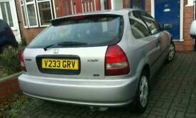 HONDA CIVIC 1.4 AUTOMATIC WITH ONE YEAR MOT AND HISTORY 3 DOOR POWER STREEN CHEAP INSURANCE AND TAX