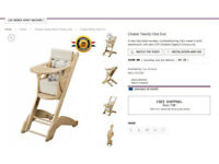 Worth 200 Euros - Wooden High Chair - Cambelle Twenty One Evo - Good Condition