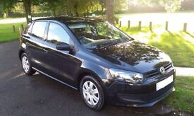 REDUCED 2010 Black Volkswagen Polo 1.2 S 5dr (a/c)