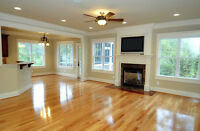 Hardwood flooring & re-sands