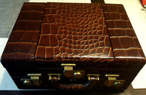 Vintage 1940's Crocodile leather vanity case made by*Shortrip*