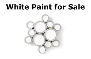 White Paint - full 3.7L cans of White Paint