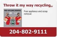 Throw it my way free appliance and scrap removal