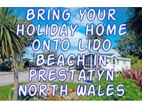 Bring Your Static Caravan to Lido Beach in North Wales 2 Pitches For Sale
