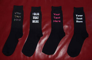 PERSONALISED-WOMENS-YOUR-OWN-TEXT-SOCKS-CHRISTMAS-BIRTHDAY-MOTHERS-DAY-GIFT