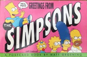 SIMPSONS POSTCARD BOOK 1990 MATT GROENING BART SIMPSON