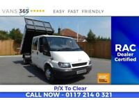 Ford Transit NO VAT D/C TIPPER FACTORY ONE STOP ALLOY TIPPING BODY 350
