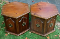 *** SET OF 2 END TABLES WITH STORAGE ***