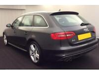 2013 GREY AUDI A4 AVANT 2.0 TDI 150 S LINE DIESEL AUTO CAR FINANCE FR £41 PW