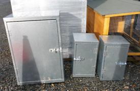 Galvanised farm medicine cabinet general purpose storage boxes