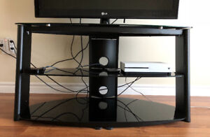 Modern Tv stand tempered glass