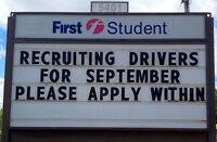 Training and Hiring NOW! School Bus Driver - Burlington/Oakville