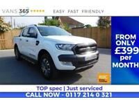 Ford Ranger WILDTRAK 4X4 DCB TDCI AUTO ONLY 33K MILES TOW BAR ROLLER SHUTTER TOP