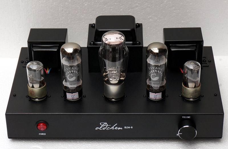 US SHIP ! AIQIN EL34 tube amp Single-ended Class A handmade Tube amplifier 110V