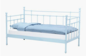 IKEA twin bed with metal frame -- doubles as a daybed