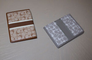 2 - Authentic Coach Passport Holders, Never been used.