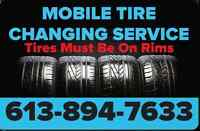 $30 Mobile Tire Changing Service