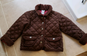 Girls Gap Brown Quilted Jacket size 3T