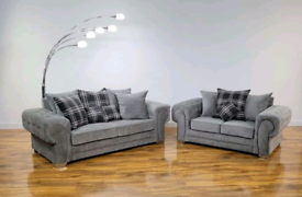 NEW: 3+2 Seater Verona Sofas With Scatter Back Cushions + Cuddle Chair