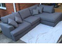 Next stratus lll grey corner sofa