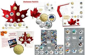 CANADA 150 RCM COIN SETS plus CANADA POST CANADA 150 STAMP SETS