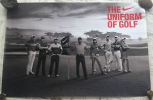 Tiger Woods The Uniform of Golf NIKE PGA Golf Poster Brand New Rolled 24x36