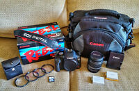 Canon EOS Rebel T1i with Lens and Camera Bag