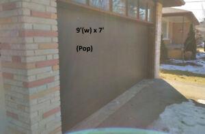 Garage Door- 16(w)x7, Double Metal Layer, Insulated, Flat Panels
